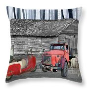 Forgotten Old Timers Throw Pillow
