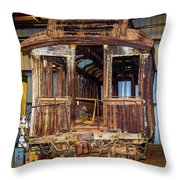 Forgotten Passenger Car Throw Pillow