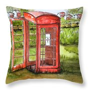 Forgotten Phone Booth Throw Pillow