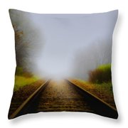 Forgotten Railway Track Throw Pillow