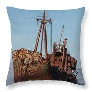 Forgotten Ship Wreck Throw Pillow