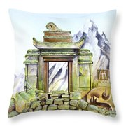 Forgotten Shrine Throw Pillow
