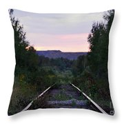 Forgotten Train Track Throw Pillow