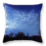 Forked Lightning Throw Pillow
