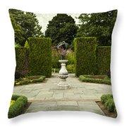 Quiet Garden Space At Niagara Falls Botanical Gardens Throw Pillow
