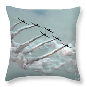 Formation Fly By Throw Pillow