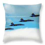 Formation Of Blue Angels Throw Pillow