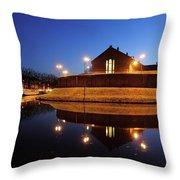 Former Prison Wolvenplein In Utrecht In The Evening 20 Throw Pillow
