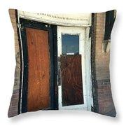 Former Waiting Room Doors Throw Pillow