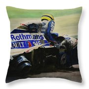 Formula Alone Throw Pillow