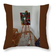 Forrest Colors Throw Pillow