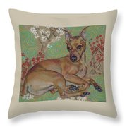Mini-pinscher Throw Pillow
