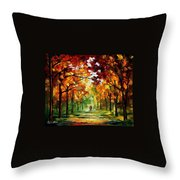 Forrest Of Dreams Throw Pillow