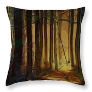 Forrest Sun Throw Pillow