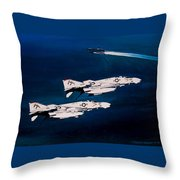 Forrestal S Phantoms Throw Pillow by Marc Stewart