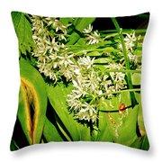Forest's Gift. Bear's Garlic. Throw Pillow