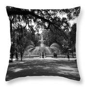 Forsyth Park Black And White Throw Pillow