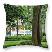 Forsyth Park Inn In Savannah  3205 Throw Pillow