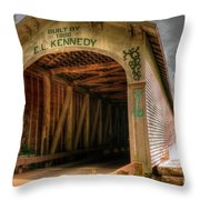 Forsythe Mill Bridge Throw Pillow