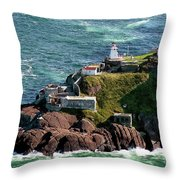 Fort Amherst At St. Johns New Foundland Throw Pillow