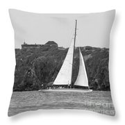 Fort Amsterdam Sailboat Throw Pillow