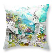 Fort And Houses In Valenca Throw Pillow