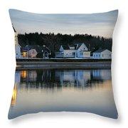 Fort Baldwin Winter Evening Throw Pillow