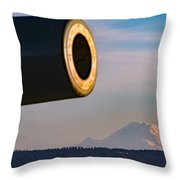 Fort Casey- Mount Rainer Throw Pillow
