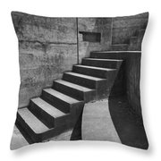 Fort Casey Steps 3939 Throw Pillow