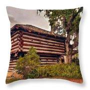 Fort Christmas Florida Throw Pillow
