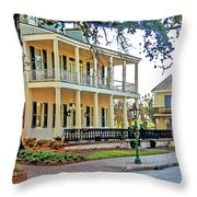 Fort Conde Inn In Mobile Alabama Throw Pillow