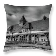 Fort Edward Train Station Throw Pillow