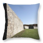 Fort Frederick In Maryland Throw Pillow