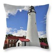 Fort Gratiot Light Throw Pillow