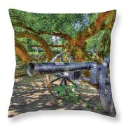 Fort Harrod Cannon Throw Pillow