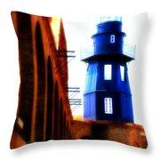 Fort Jefferson Lighthouse Throw Pillow