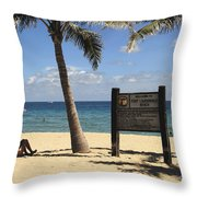 Fort Lauderdale Beach Throw Pillow