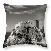 Fort Lavrijenac Throw Pillow