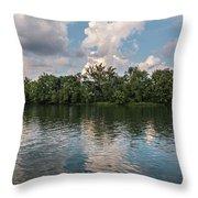 Fort Loudoun Sunset Throw Pillow by Todd Blanchard