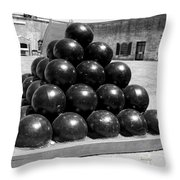 Fort Macon Cannonball Throw Pillow