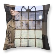 Fort Macon Through Glass Throw Pillow