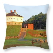 Fort Mcclary, Kittery Point, Maine Throw Pillow