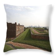 Fort Mchenry Earthworks And Barracks In Baltimore Maryland Throw Pillow