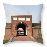 Fort Mchenry Gate In Baltimore Maryland Throw Pillow