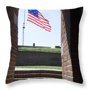 Fort Mchenry Star Spangled Banner Throw Pillow