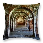 Fort Morgan Arches Throw Pillow