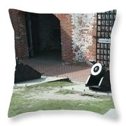 Fort Morgan Mortars Throw Pillow