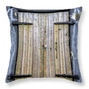 Fort Moultrie Bunker Door Throw Pillow