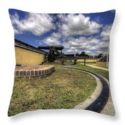 Fort Moultrie Cannon Rails Throw Pillow