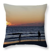 Fort Myers Beach Florida Iv Throw Pillow